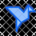 Dove Paper Origami Icon