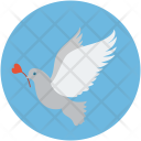 Dove with rose Icon