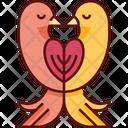 Doves Wedding Pigeon Icon