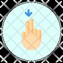 Down Finger Gesture Icon