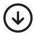 Down Save Arrow Icon