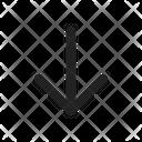 Down Arrow Direction Icon