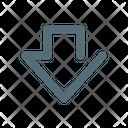 Down Arrow Save Icon