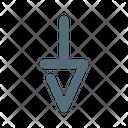 Down Arrow Cursor Icon