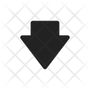 Down Download Save Icon