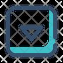 Down Slide Rectangle Icon