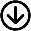 Arrow Material Down Icon