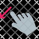 Down Swipe Finger Icon