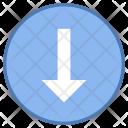 Below Down Arrow Icon