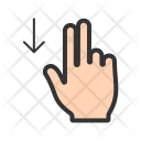Two Fingers Down Icon