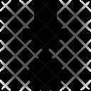 Down Dot Arrow Icon