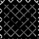 Down Arrow Sign Icon