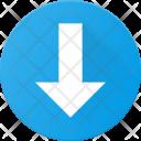 Arrow Navigate Down Icon