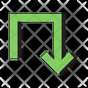 Down Business Design Icon