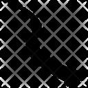 Arrow Down Movement Icon