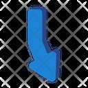Down Arrow Pointer Arrow Icon