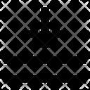 Down Arrow Text Align Icon