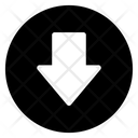 Down Arrow Directional Arrow Arrowhead Icon