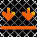 Arrows Down Sign Icon