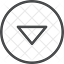 Down Carrot Circle Icon