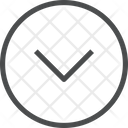 Down Chevron Circle Icon