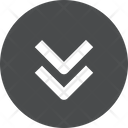 Down Chevrons Circle Icon