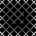 Down corner arrow Icon