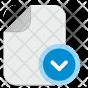 Down File Icon