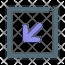 Down left Icon