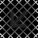 Down Left Arrow Icon