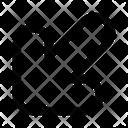 Down Left Arrow Arrows Icon