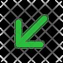 Arrow Down Left Arrow Arrows Icon