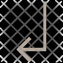 Arrow Turn Down Icon