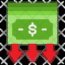 Down Money Value Icon