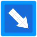 Down Right Road Arrow Direction Arrow Icon