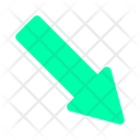 Arrow Button Corner Icon