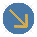 Down Angled Arrow Icon