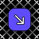 Down Right Arrow Direction Arrow Icon