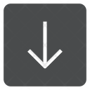 Down Square Icon