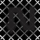 Arrow Down Zigzag Icon