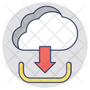 Cloud Downloading Hosting Icon