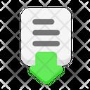 Download Down File Icon