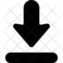 Arrow Down Import Icon