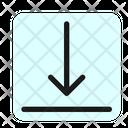 Bottom Vertical Align Icon