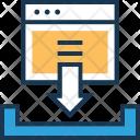 Inbox Download Data Icon