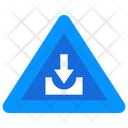 Downward Arrow Road Arrow Icon
