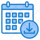 Download Calendar Download Date Icon