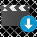 Clapper Download Clip Icon
