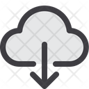Download Cloud Download From Cloud Download Data Icon