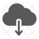 Cloud Download Sign Icon
